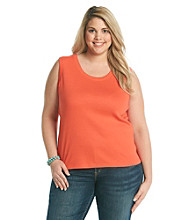 Rafaella® Plus Size Basic Sleeveless Tank