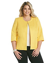 Rafaella® Plus Size Collarless Jacket