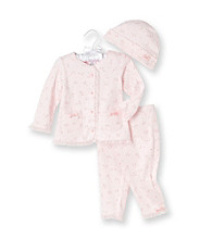 Cuddle Beasr® Baby Girls' Pink 3-pc. Floral Print Take-Me-Home Set