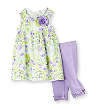 Little Me® Baby Girls' Purple Floral Tunic Set