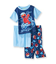 Sesame Street® Boys' 2T-4T Blue 3-pc. Elmo Biker Shorts Pajama Set
