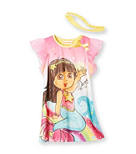 Dora the Explorer® Girls' 2T-4T Pink Ranibow Mermaid Dorm with Headband