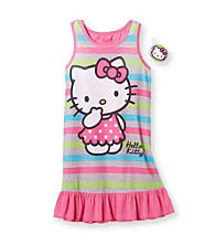Hello Kitty® Girls' 4-10 Pink/Grey Striped Dorm with Keychain