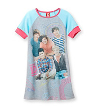 One Direction Girls' 4-14 Blue/Grey Short Sleeve We Love 1D Dorm