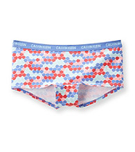 Calvin Klein Girls' 6-16 Purple Circle Print Boyshorts