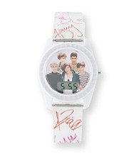One Direction White Script Watch