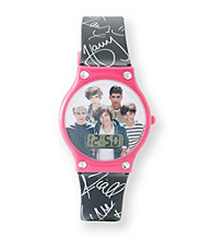 One Direction Black/Pink Face Watch