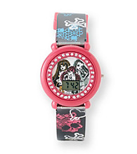 Monster High® Black/Pink Crossbones Watch