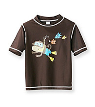 Carter's® Boys' 2T-7 Brown Monkey Rash Guard