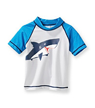 Carter's® Boys' 2T-7 Grey Shark Rash Guard