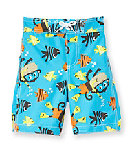 Carter's® Boys' 2T-7 Blue Monkey Swim Trunks