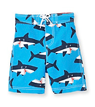 Carter's® Boys' 2T-7 Blue Shark Swim Trunks