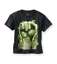 Marvel® Boys' 4-7 Black Short Sleeve Avenger Fist Tee