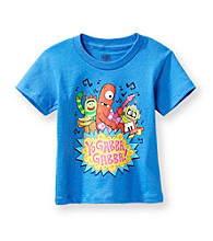 Nickelodeon® Boys' 2T-4T Blue Short Sleeve Yo Gabba Gabba Band Tee