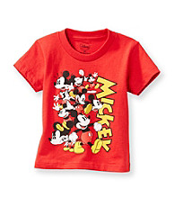 Disney® Boys' 2T-4T Red Short Sleeve Mickey Tee