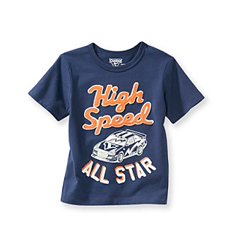 OshKosh B'Gosh® Boys' 2T-4T Navy Short Sleeve High Speed All Star Tee