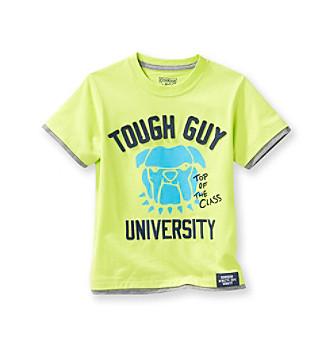 OshKosh B'Gosh® Boys' 2T-4T Green Short Sleeve Tough Guy Bulldog Tee