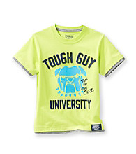 OshKosh B'Gosh® Boys' 2T-4T Green Short Sleeve Tough Guy Bulldog Tee