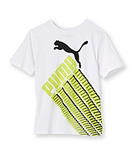 PUMA® Boys' 8-20 White Short Sleeve Racing Tee