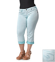 Silver Jeans Co. Plus Size Suki Denim Colored Capri