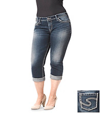 Silver Jeans Co. Plus Size Suki Denim Five Pocket Capri