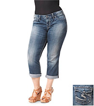 Silver Jeans Co. Plus Size Suki Flap Pocket Capri