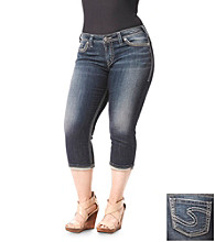 Silver Jeans Co. Plus Size Aiko Five Pocket Denim Capri