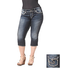 Silver Jeans Co. Plus Size Mckenzie Denim Capri Jeans