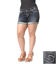 Silver Jeans Co. Plus Size Suki Denim Above Knee Cuffed Short