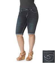 Silver Jeans Co. Plus Size Suki Bermuda Denim Short