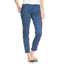 Jones New York Signature® Petites' Navy Printed Slim Pant