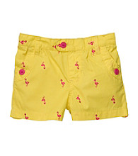 Carter's® Girls' 2T-6X Yellow Flamingo Print Shorts
