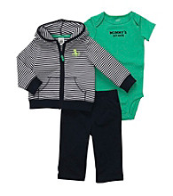 Carter's® Baby Boys' Navy/Green 3-pc. Striped Cardigan Set