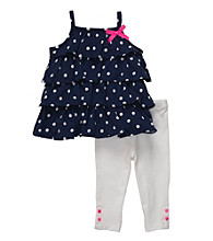Carter's® Baby Girls' Navy/White 2-pc. Polka-Dot Set