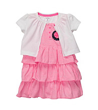 Carter's® Baby Girls' Pink Striped Dress with Cardigan