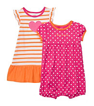 Carter's® Baby Girls' Pink/Orange 2-pk. Romper and Dress Set