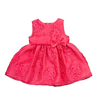 Rare Editions® Baby Girls' Fuchsia Organza Dress