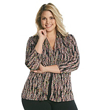 Notations® Plus Size Layered Look Top