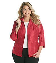 Notations® Plus Size Shimmer Jacket