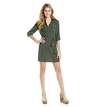 Ultra Flirt® Juniors' Challis Shirt Dress
