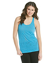 Grane® Juniors' Animal Print Burnout Racerback Tank