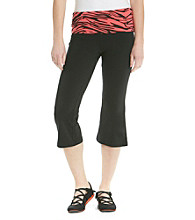 Grane® Juniors' Zebra Waistband Yoga Crop