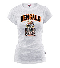Soffe® Juniors' Idaho State Glitter Burnout Tee