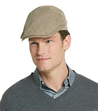 Isotoner® Lake of the Isle™ Men's Khaki Plaid Houndstooth Ivy Hat