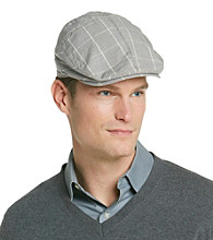 Isotoner® Lake of the Isle™ Men's Khaki & Brown Ivy Patterned Hat
