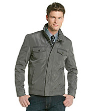 Kenneth Cole REACTION® Men's Grey Carbon Bonded Hipster Jacket