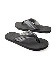 Paradise Collection® Men's Black Two-Tone Thong Sandal