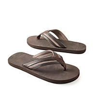 Paradise Collection® Men's Brown Two-Tone Thong Sandal