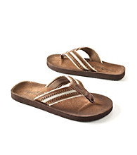 Paradise Collection® Men's Cognac Top Stitch Thong Sandal