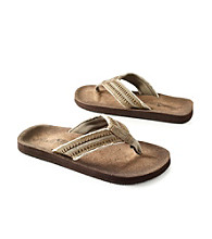 Paradise Collection® Men's Olive Top Stitch Thong Sandal